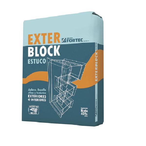 FORTEC EXTERBLOCK ESTUCO 40KG